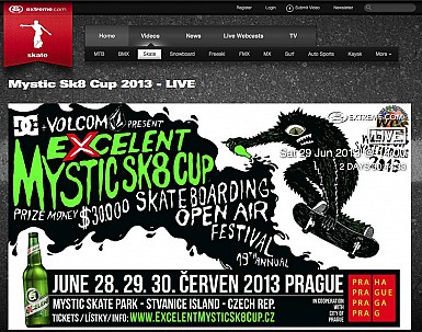 Excelent Mystic Sk8 Cup 2013 – live broadcasting